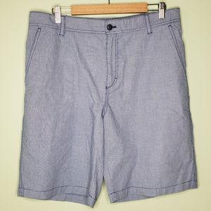 IZOD mens flat front blue shorts 36